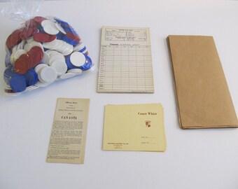 Canasta Chips, Poker Chips, Canasta, Games, Toys, Game Cards, Canasta Scoring Sheets, Plastic Game Chips, Poker, Vintage Games, Canasta Sets
