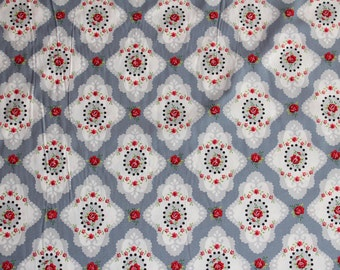 Cotton rose in ornaments grey