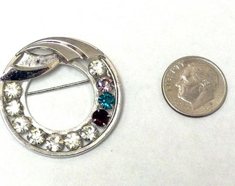 Mother Charm Pin Birthstone Pin 1/20 12KGF White Gold Fill