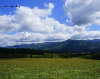 Clouds Over Cades Cove Photographic Print