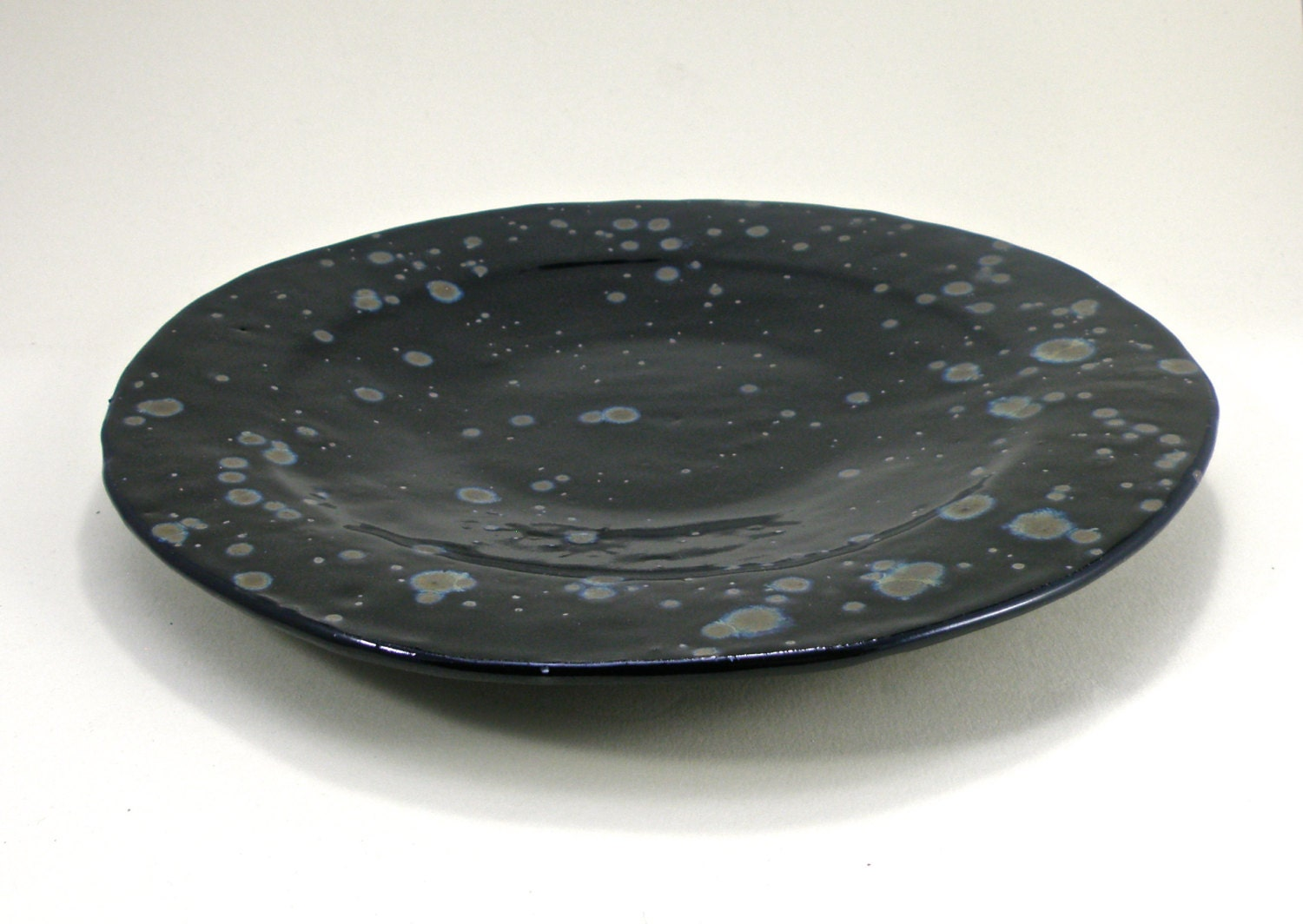 Large Handmade Plate Stoneware Clay High Fire By Domspottery