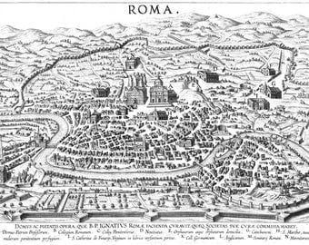 Coloring Book Page - 1610 Map of Rome