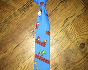 Super Mario Brothers/Mario Bros/ video Game/nintendo tie/Great for pictures and Birthday Parties!
