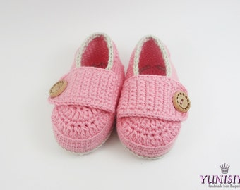 Baby girl mocassins, Crochet Baby Shoes, cute baby shoes, Crochet Baby Booties, crochet loafers light, Baby Shower Gift, for baby 0-6 BB301