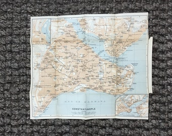 1911 Constantinople Istanbul Map [12.7 x 11.0 in.]  Old Turkey Map