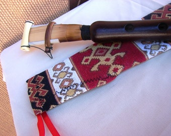 Handmade Pro Armenian Duduk in Fabric Ornament Case, made from Apricot Wood, Musical Instrument Doudouk Gift for him