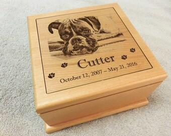 Large Pet Urn - Large Engraved Dog Urn