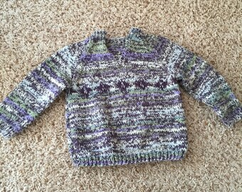 Vintage Hand Knit Children's Sweater - 12 months