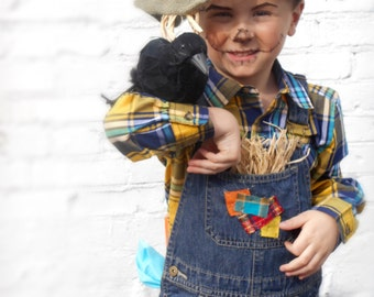 Cute Scarecrow Costume with Hat