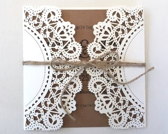 Laser Cut wedding Invite and RSVP card