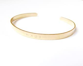14K Gold Fill Stamped Cuff