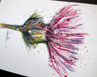 Thistle by Suzanne Patterson.Approx'  A4. Printed from one of my original paintings.XX