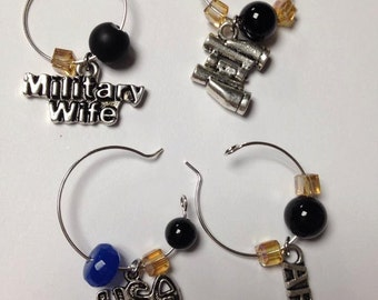 Army Set of Wine Charms