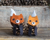 Felt PInecone Fox Pattern
