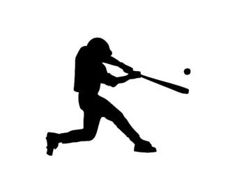 Baseball Player Decal | Decal | Swinging Baseball Player Sticker | Baseball Vinyl Decal | Baseball Player Decal | Baseball Player Sticker