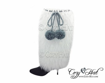 Faux Fur Boot Covers -  Boot Cuffs MADE to ORDER