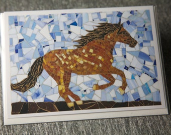 Leaping Horse Greeting Card, Blank Inside