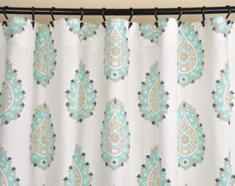 "Fabric SHOWER Curtain - DAMASK GUNMETAL Canal - 72"" Width x (72"", 74"", 78"", 84"", 90"", 96"") Length"
