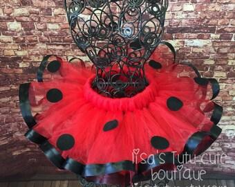 Ladybug birthday. Ladybug tutu. Red and black tutu. Ribbon trimmed tutu. Lady bug tutu. Lady bug birthday. cake smash, cake smash tutu