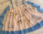 Cinderella dress. Belle dress. Snow White dress. Princess dress. Disney dress. Vintage dress. Twirl dress. Birthday dress. Birthday gift.