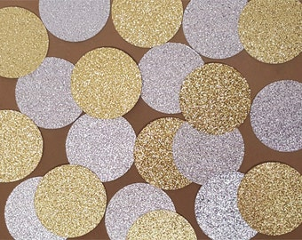 Gold or Silver GLITTER Circle die cuts/ Gold or Silver circles  /size 1.5inch -8inch/