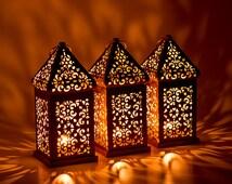 Vintage Moroccan Lantern Shabby chic Lantern Wedding Lighting Bohemian Wedding Decor Home Decor Centerpiece Candle Holder Christmas Decor