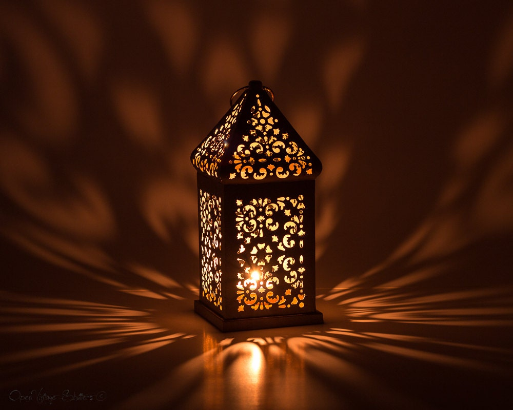 Silver Christmas Decorations Moroccan Lantern/ Exotic Pewter