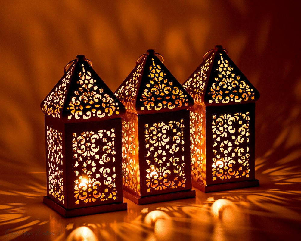 Vintage moroccan lantern shabby chic lantern wedding lighting - Improve your home decor with moroccan lamps ...