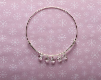 Sterling Silver Bracelet with Swarovski Crystal Flowers