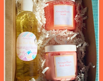 Spa Gift box 3- choice of scent,  spa gift, bath and body gift set, vegan gift set, spa gift basket, Mother's Day gift box
