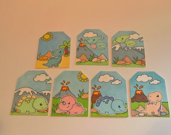Set Of Four Dinosaur Tags