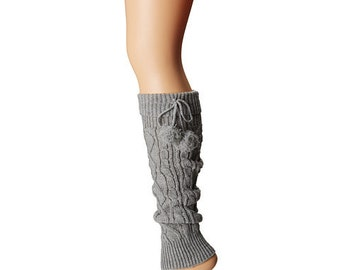Leg warmers, Women pompom leg warmers, women boot cuffs,