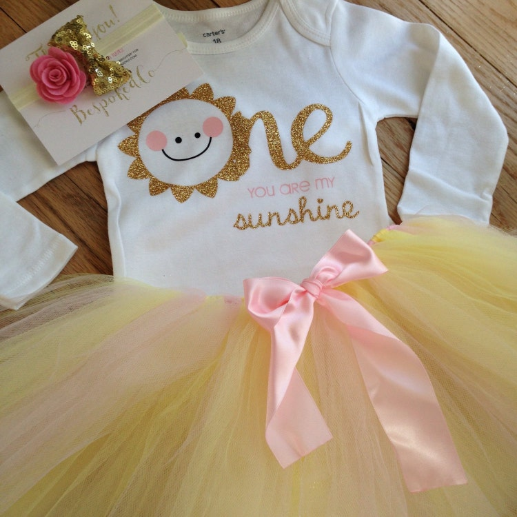 You Are My Sunshine First Birthday Outfit Summer By BespokedCo