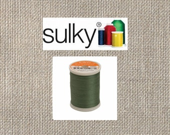 Sulky 2-ply 12wt - Cotton Thread - 330yds - French Green - 713-1287 - By the Spool