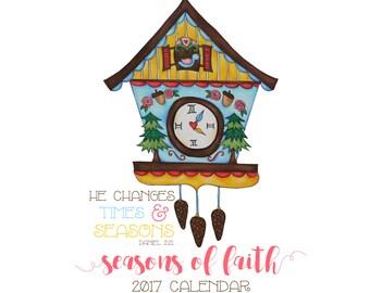 SUMMER SALE! 2017 Seasons of Faith Calendar | 5x7 or 8x10 inches