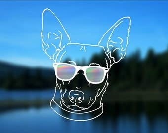 Rat Terrier Decal, Dog, Vinyl Decal, Car Decal, Bumper Sticker, Decal