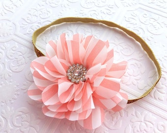 The Pink Petaled Puff Headband or Hair Clip