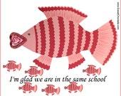 Valentine Exchange Cards - Fish - PDF - INSTANT DOWNLOAD