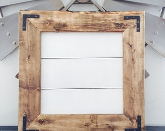 Medium framed shiplap sign