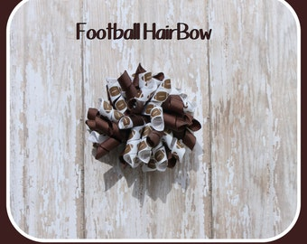 Football Korker Hair Bow