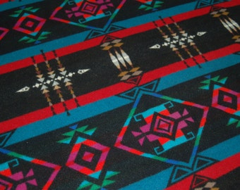 Pendleton Beaver State Wool Blanket Prince George Southwestern Tribal Design Heavy Thick Diamond Pattern Black Bold Jewel Colors Wool Throw