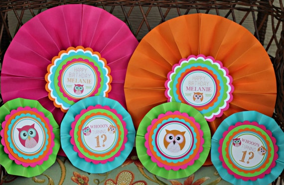 OWL BIRTHDAY DECORATIONS Girl Owl Party Owl birthday party