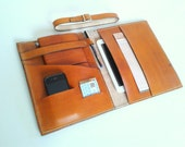 Caramel Big Leather Cover for ipad and extra large moleskine ,organizer ,xlarge ,ipad cover ,notebook cover ,gadget ,x large