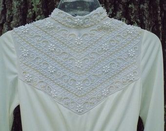 Vintage House of Bianchi Wedding Dress | Bianchi Boutique Renaissance Revival Chapel Length Bridal Gown | Boho Wedding |