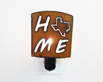 Home Texas Nightlight made out of rusted metal