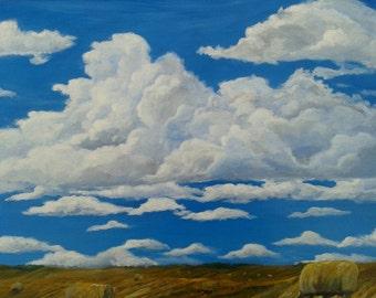 Hay feild painting