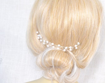 Pearls Headpiece - Bridal Pearl Hair Piece - Swarovski Pearls - Wedding Hair Piece - Bridal Tiara