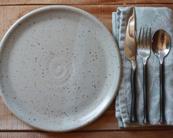 Dinnerware Plate  - Made to Order- Plate Set - Grey - Dinner Plates - KJ Pottery