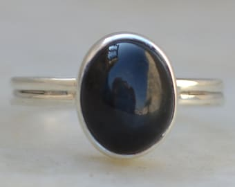 Black onyx Ring,solid sterling Silver Ring,handmade ring,Silver Ring,925 Sterling Silver Ring,Silver Stone Ring,Black Onyx Jewellery Gift
