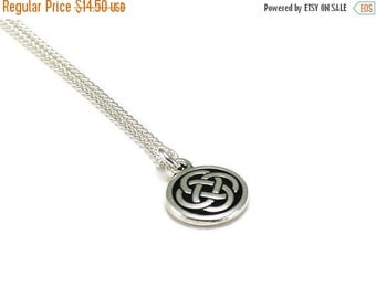 On Sale Celtic Knot Necklace Silver Chain